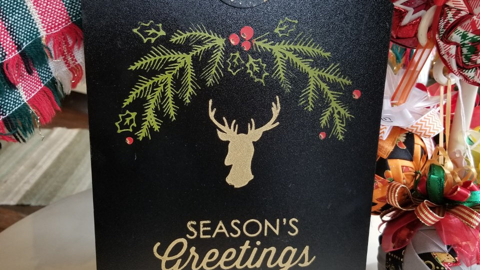 """Season's Greetings"" Door Tag"