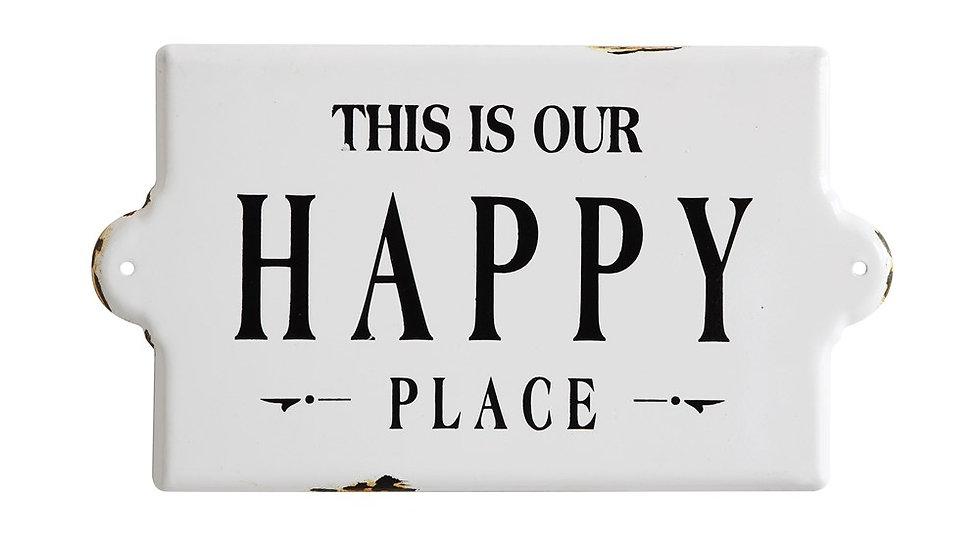 "Enameled Wall Decor ""Happy Place"""