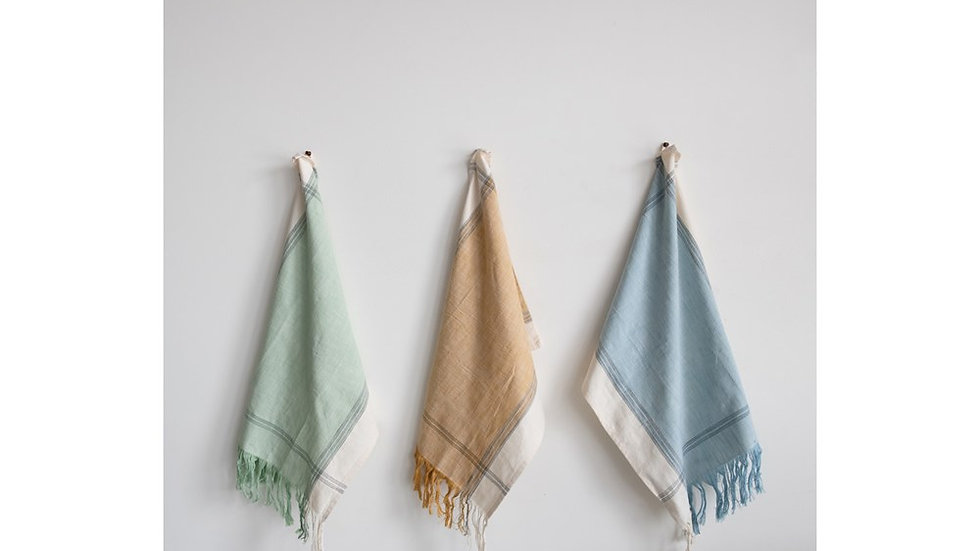 Cotton Tea Towel with Fringe