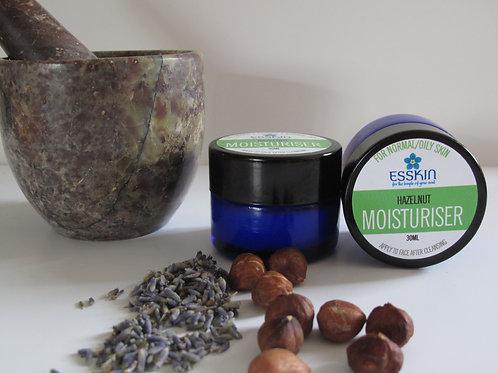 Hazelnut moisturiser for oily skin