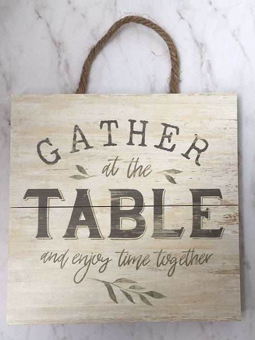 """Gather at the table"""