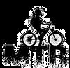 ciclista-letters-mtb-silhouette-vettore-