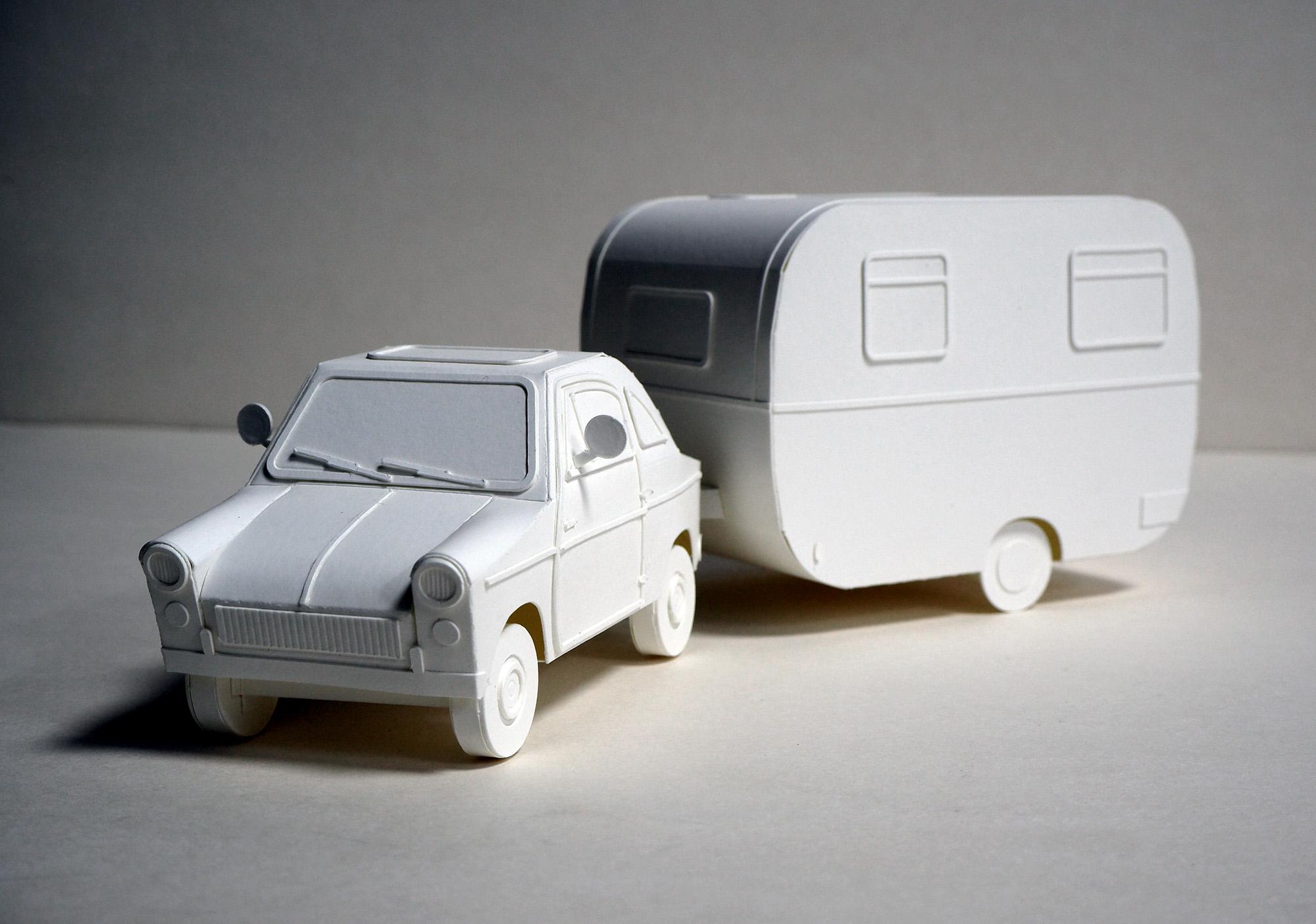 자동차와 캠핑트레일러
