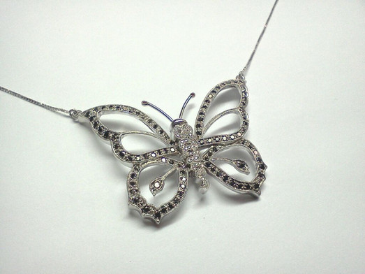 Gold Name Butterfly Pendant