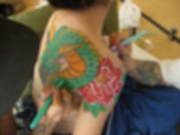 撮影用ボデイーペイント、劇用刺青