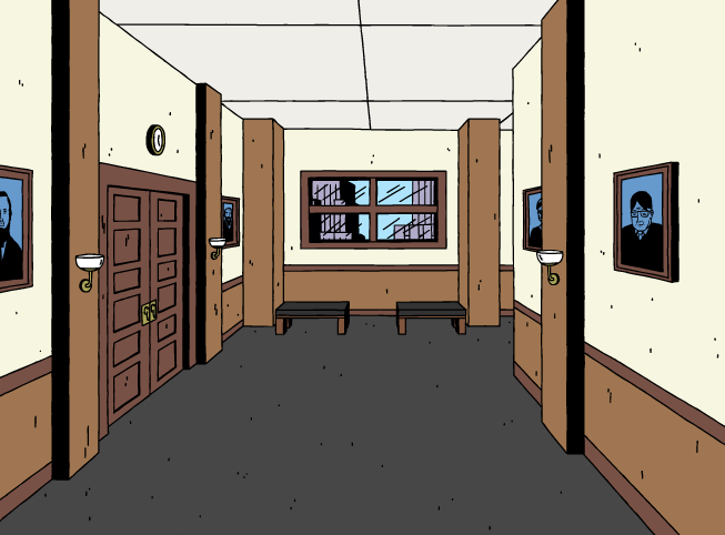 Ugly Americans Court Hallway