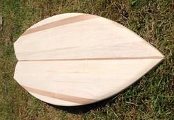 eco-friendly wooden surfboard
