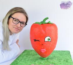 Giant Strawberry Cake