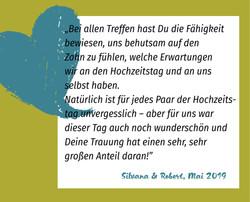 Referenz Silvana und Robert | Trauredner Fabian