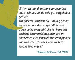 Referenz Tamara und Simon | Trauredner Fabian