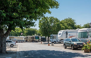 Capitol West Sacramento RV view.