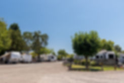 Overview of RVs at Windsor RV Park