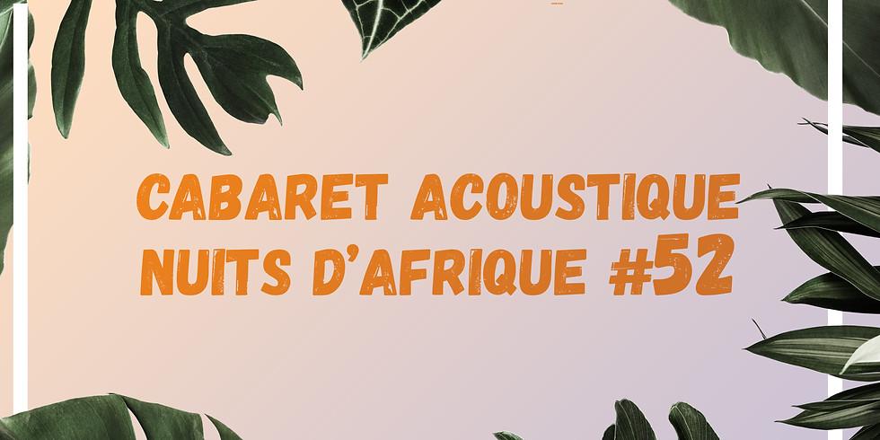 Cabaret acoustique Nuits d'Afrique #52