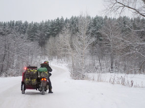 Siberia by Scooter and Sidecar