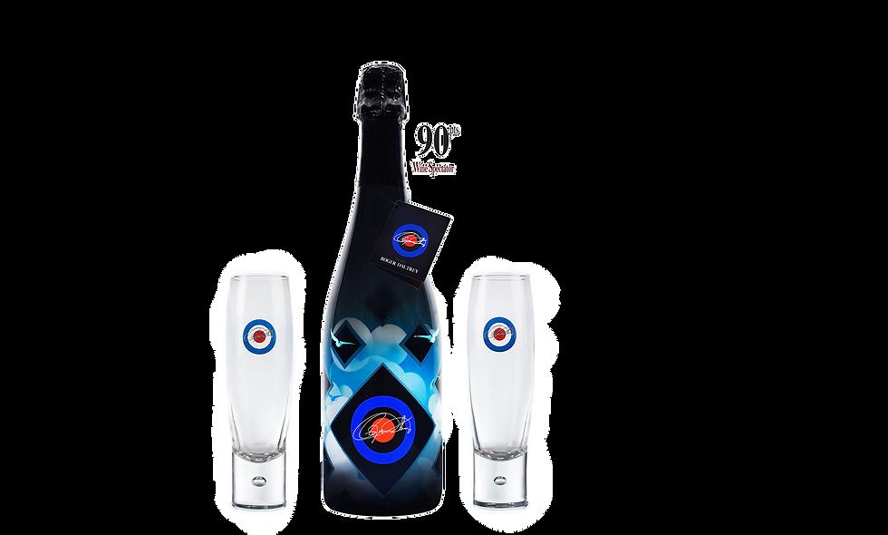 Champagne Charles Orban, Cuvée Roger Daltrey + 2 Glasses