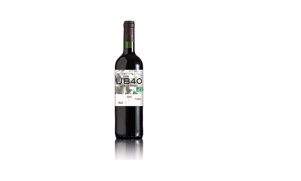 UB40 Red Red Wine Bordeaux ORGANIC-VEGAN 75cl