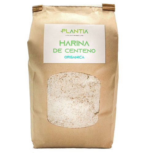 PLANTIA Harina Integral de Centeno Orgánico 1kg