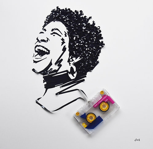 Aretha Franklin - 16 by 16 inches