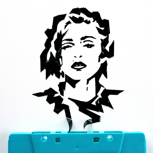 5 x 7 inch cassette tape portrait of Madonna w/ USshipping