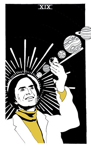 Carl Sagan - 10 by 17 inch print