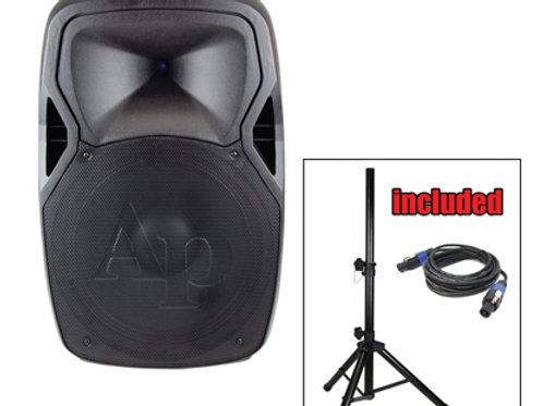 """DJAP-1562P-CMB 15"""" Professional Passive Loudspeaker with stand"""