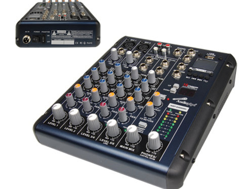 AQP-6100DU 6 Channel Mixing Console