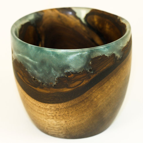Walnut and Resin Cup