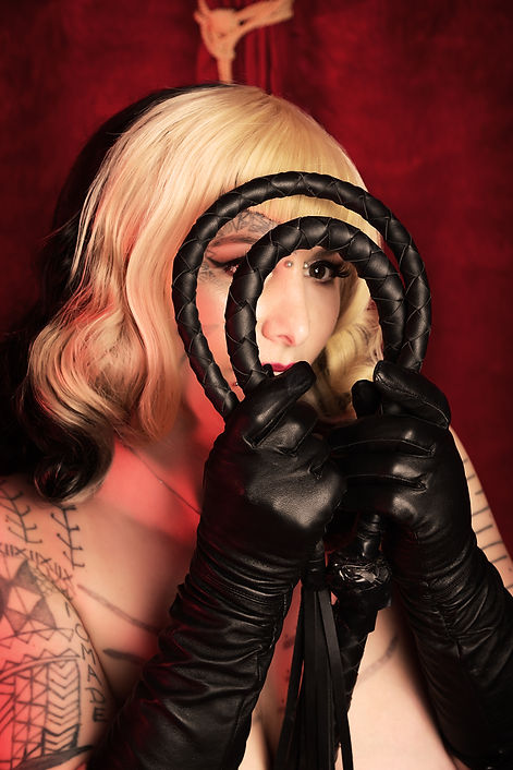 whips and leather gloves