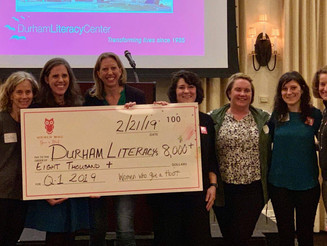 Many thanks to 100 Women Who Give a Hoot (Chapel Hill-Durham)!