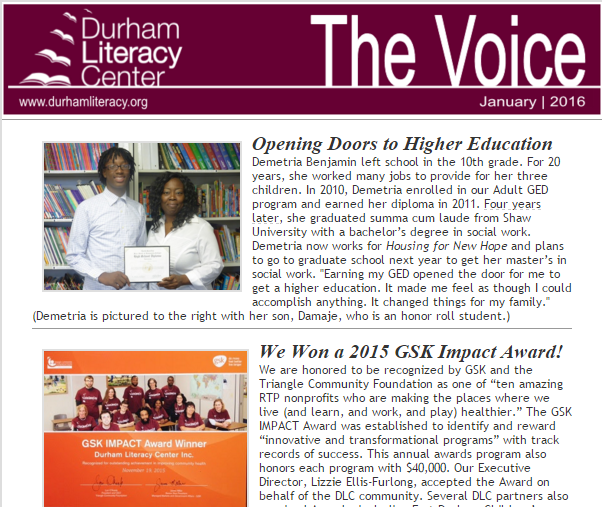January 2016 Issue of The Voice