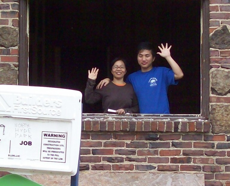 Lal and her son renovate their home