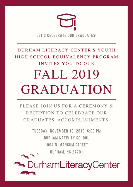 High School Equivalency Graduation November 19