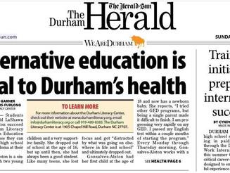 Alternative education is vital to Durham's health (Herald-Sun)