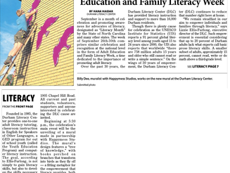Literacy organization celebrates (Herald-Sun)