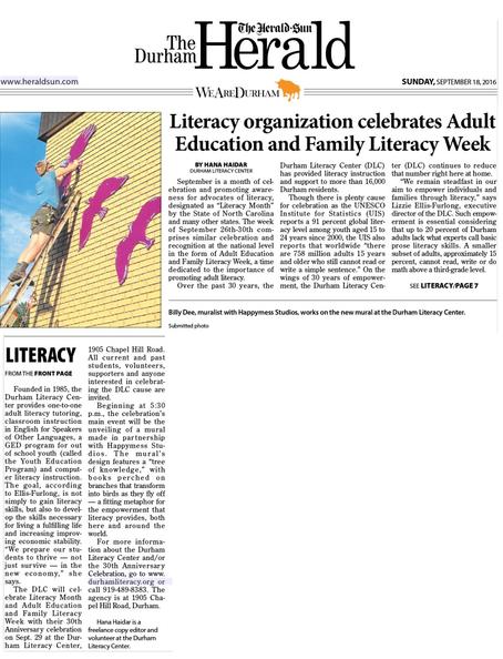 Literacy organization celebrates (Herald-Sun)