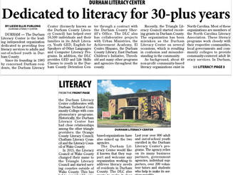 Dedicated to literacy for 30-plus years (Herald-Sun)