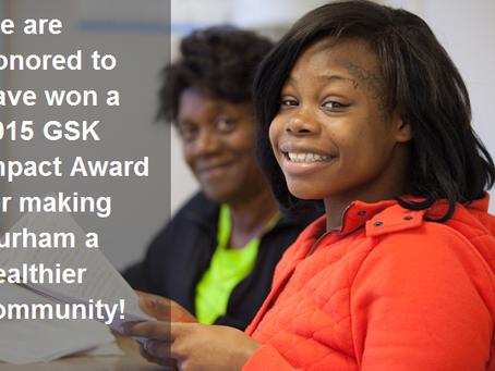 We've received a GSK IMPACT award!
