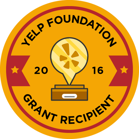 We received a Yelp Foundation Grant!