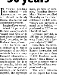 Spreading literacy for 30 years (Herald-Sun Editorial)