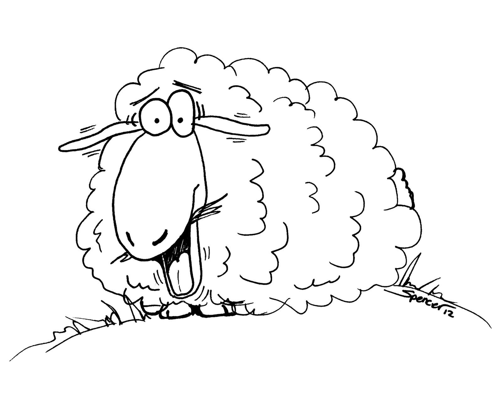 Для, прикольные с овцами рисунки
