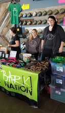Bark Nation was able to sell march & show the chains they break during raids.
