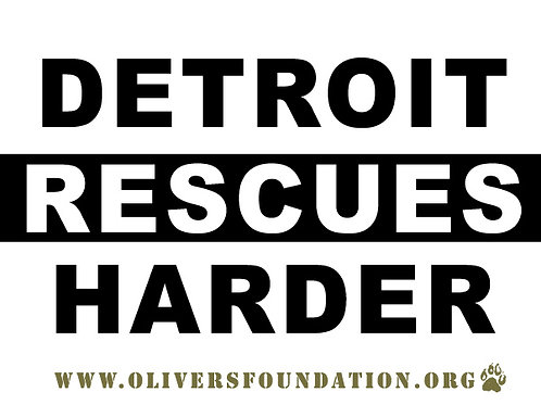Detroit Rescues Harder Sticker