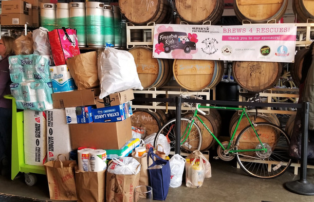 Bark Nation had a wishlist of paper towels, trash bags, dog treats, shavings, and more