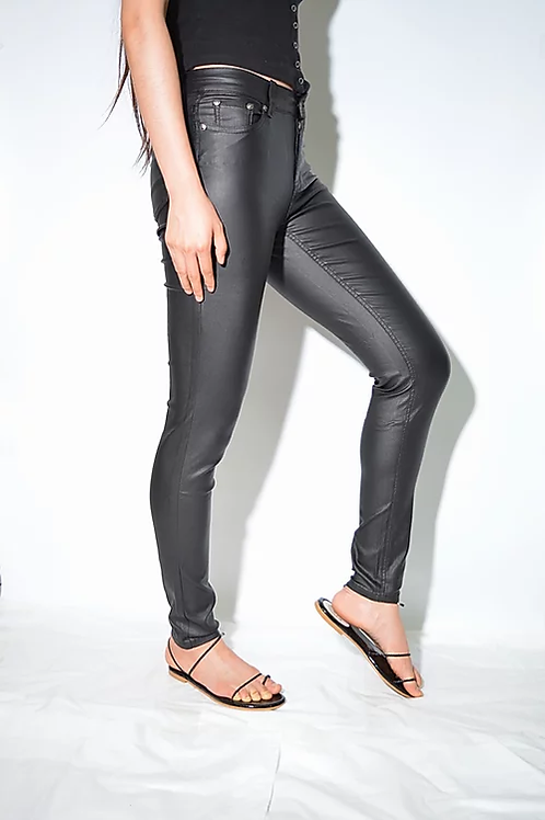 Wakee Leather look jeans