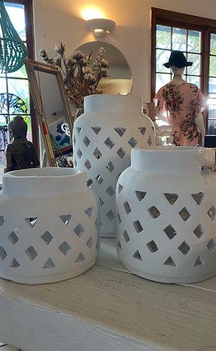 Large candle lantern