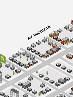EJEMPLO MAPA RECOLETA / Servicio de Wayfinding