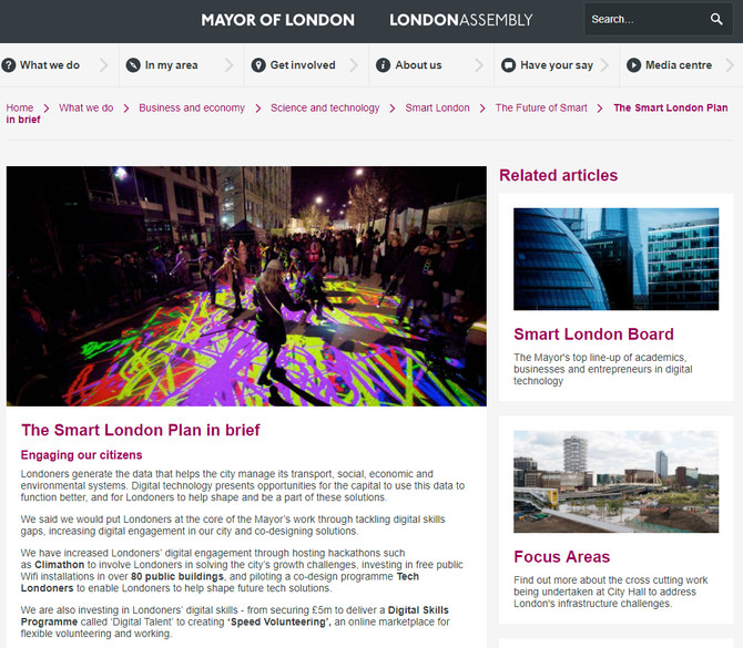 The Smart London Plan in brief