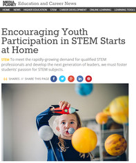 Encouraging Youth Participation in STEM Starts at Home