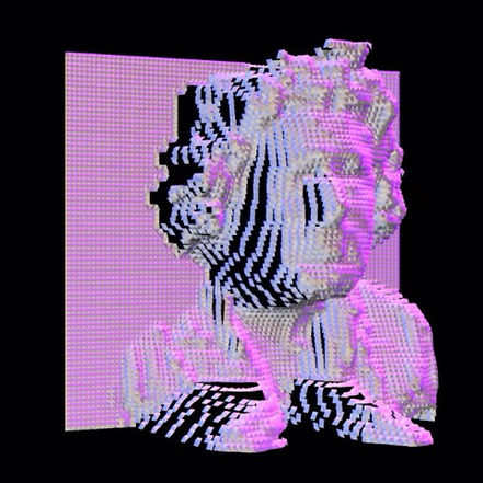 An image of CutMod founder Will Michelsen as a 3D object created with depth camera data in realtime.