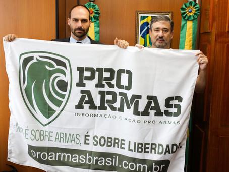 Coordenador regional do PROARMAS se reúne com Eduardo Bolsonaro